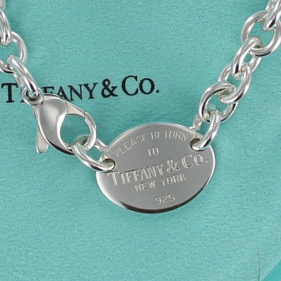 2f7c201a09de8 Tiffany Return To RTT Oval Tag Choker Necklace EUC.  M 5ab722105512fd7a81a53d61